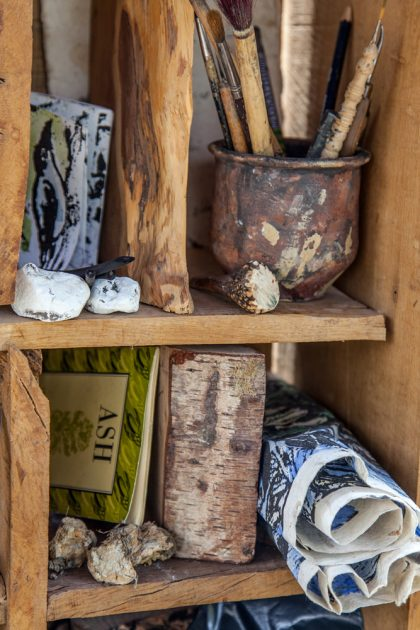 Cabinet of curiosities detail