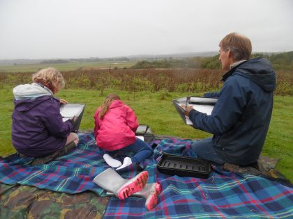 Landscape drawing with Andy Evans