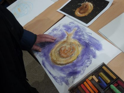 Snail Painting with Natural Pigment